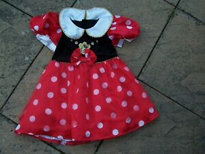 From Marks And Spencer Red Black And White Minnie Mouse Dress Size 4-6 Years