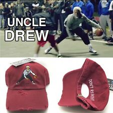 Maroon Distressed Kyrie Uncle Drew Dad Cap Strapback Hat