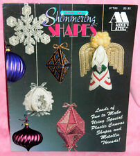 Annies Attic Shimmering Shapes Plastic Canvas Leaflet Metallic Thread Ornaments