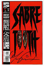 SABRE TOOTH #1  Signed by Mark Texiera (COA # 406 of 10,000) (vf-)