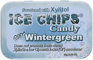 Ice Chips Candy by ICE CHIPS CANDY, 1.76 oz Wintergreen 1 pack