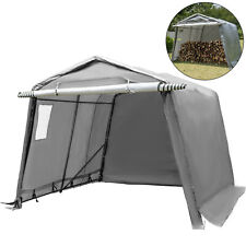 Portable Storage Shed Motorcycle Cover Tool Lawnmower Shed 6x6x7.8'