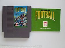 NES Play Action Football (Nintendo NES, 1990) Game & Manual--Tested (NTSC)