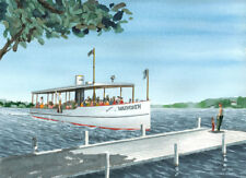 Mailboat WALWORTH in a great watercolor print