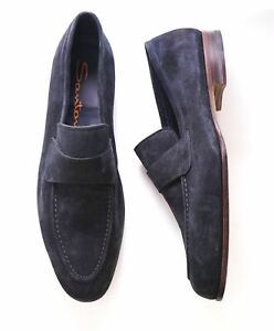 Details about  / Santoni Mens Shoes Contrasting Blue Suede Sneakers 11 12 GUARANTEED AUTHENTIC