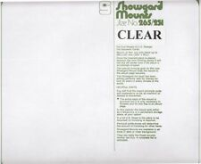 Showgard Clear Stamp Mounts: 265mm / 231 US Full Sheets / Souvenir Cards 5 Pcs