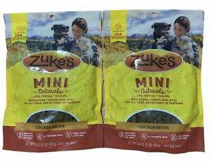 Zukes Mini Naturals Dog Treats Roasted Chicken Recipe Lot Of 2 Exp:12/22