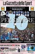 Gazzetta dello sport 27 Novembre 2020 morto Maradona con poster Maradona