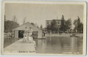 1910-20 era Gull Lake Lacombe Alberta Canada Real Photo Postcard RPPC