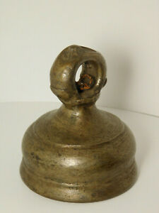 ORIGINAL VINTAGE SOLID BRASS ELEPHANT BELL FROM INDIA