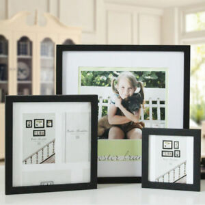 """Multi-size Room Decor Wooden Picture Photo Wall Frame Square 5""""/6""""/7""""/8""""/10"""""""