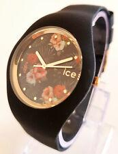 Ice-Watch ICE flower 016671 M Colonial Uhr Damenuhr Blume Silikonband schwarz 49