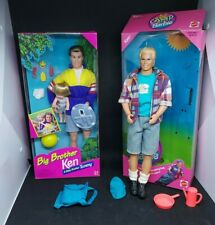 VINTAGE 1996 Big Brother Ken, Brother Tommy Barbie Dolls NIB, Camping Ken Mattel