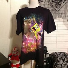 Nickelodeon SHIRT SIZE large sponge bob squarepants Patrick riding a cat