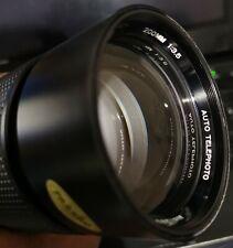 Vivitar 200mm f/3.5 by KOMINE, Olympus OM fit, very good condition.