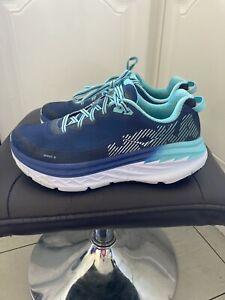 Hoka One One Trainers Blue Running Shoes UK 7.5
