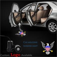 2x Car Door Led American Usa Flag Eagle Logo Laser Projector Ghost Shadow Light