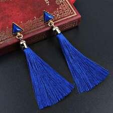 Women Fashion Bohemian Earrings Vintage Long Tassel Fringe Boho Dangle Jewelry