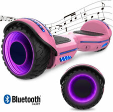 BLUETOOTH 6,5'' HOVERBOARD ELETTRICO SELF BALANCING SCOOTER OVERBOARD LED ROSA