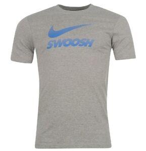 Nike Men's Running Sports Shirt Grey Blue SIZE S,M,L Or XL New