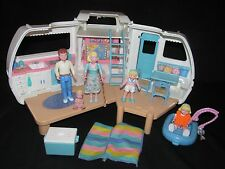 Fisher Price Loving Family Camper RV Motor Home Boat Doll Figure Furniture Lot