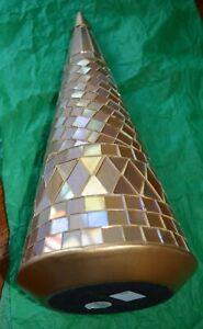 "Princess House Holiday Golden Reflections Mosaic Tree 12.5"""