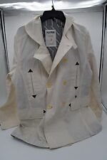 BEN SHERMAN PLECTRUM Mens Dirty Bleach White PeaCoat Jacket Coat NWT  L  $279