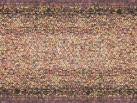 NOCH 56605 - Novità, muro in mattoni, cartoncino in rilievo 3D. Scala H0