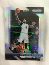 DEMARCUS COUSINS SILVER PRIZM 2018-19 GOLDEN STATE BASKETBALL CARD