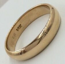 14K Yellow Gold 4.6mm Wide Wedding Band Size 8.75 4.6.Grams