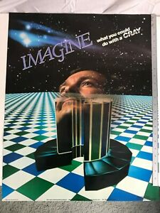 1983 Cray Supercomputer advertising poster DEC IBM PDP