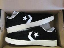 CONVERSE PRO LEATHER OX BLACK Mens 9.5 Ladies 11