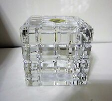Waterford Crystal London Paperweight Square Cube Engravable New Hand Signed