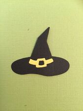 6 WITCHES WIZARD HAT DIE CUT EMBELLISHMENTS ~ HALLOWEEN ~ FULLY ASSEMBLED WITCH