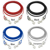 Heavy Duty Tie-Out Cable Dog Leash Metal Wire Durable Chain Leash 10/16/32FT