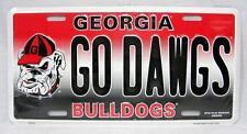 GO DAWGS Georgia Bulldogs University License Plate Sign Car Truck Auto FAST SHIP