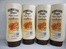 4 HAWAIAAN TROPIC SHEER TOUCH LOTION SUNSCREEN SPF 50 - 8 OZ  EXP: 1/21+ GW 1789