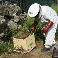 XXL Professional Cotton Beekeeping Bee Keeping Full Body Suit w/ Veil Hood
