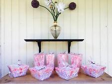 Sonderangebot 8 große Designer Echtwachskerzen rosa, Muster lichtdurchlässig