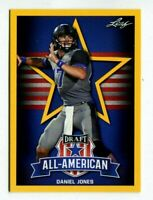 "DANIEL JONES 2019 LEAF ALL-AMERICAN ""1ST EVER PRINTED"" GOLD PARALLEL ROOKIE CARD"