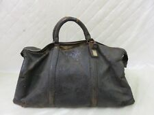 Antique Doctor Medical Bag Satchel Messenger House Call Bag Leather Linen