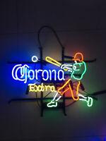 Corona Baseball Player Neon Sign Light Bar Pub Wall Beer Display Artwork