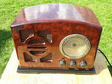 More details for art deco 1934 bakelite design steepletone lm/am/fm radio player vintage retro
