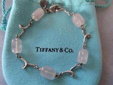 VintageTiffany & Co. Rose Quartz Sterling Silver Bracelet