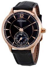 Movado Circa Motion Smart Watch Black Dial Black Leather Men's Watch 0660009 SD