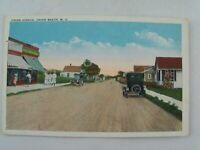 Vtg 1920's Union Avenue Street Scene Cars, Union Beach New Jersey NJ Postcard