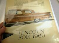 Lincoln 1960 Magazine clippings advertisement Town Car