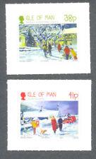 Isle of Man - Christmas-Winter Scenes self-adhesive set