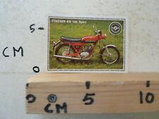 STICKER,DECAL ZUNDAPP KS 125 SPORT BIKE  SUPERMOTO ALBUM CARD PANINI NO 184