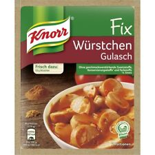 10 x Knorr Fix for Würstchen Gulasch /Sausage Goulash New from Germany